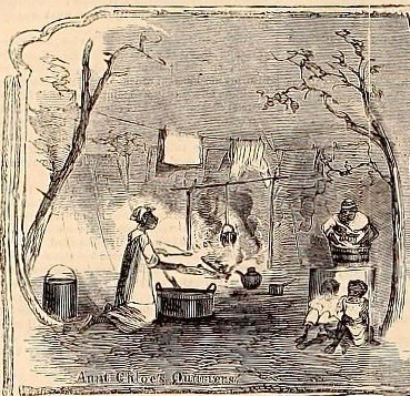 """""""'Aunt Chloe's Quarters' - Scenes Among the Beaufort Contrabands,"""" from Harper's Weekly Magazine, New York, New York, 1861, courtesy of the Internet Archive."""