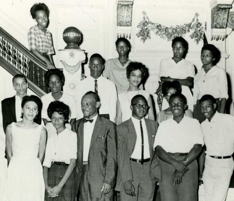 NAACP Youth Council student leaders with Rev. I. DeQuincey Newman and James Blake, Charleston, South Carolina, 1950s, courtesy of the Avery Research Center.