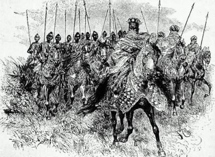 Mossi horsemen, by J.W. Buel, 1890.