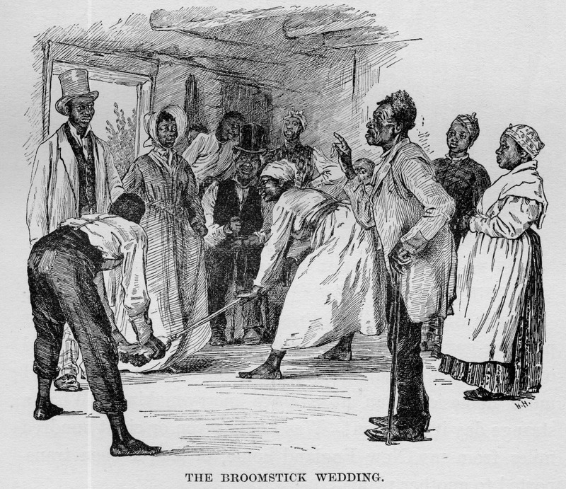 """The Broomstick Wedding,"" from The Story of my Life, or, The Sunshine and Shadow of Seventy Years, by Mary A. Livermore, 1897, Virginia, courtesy of Slavery Images."