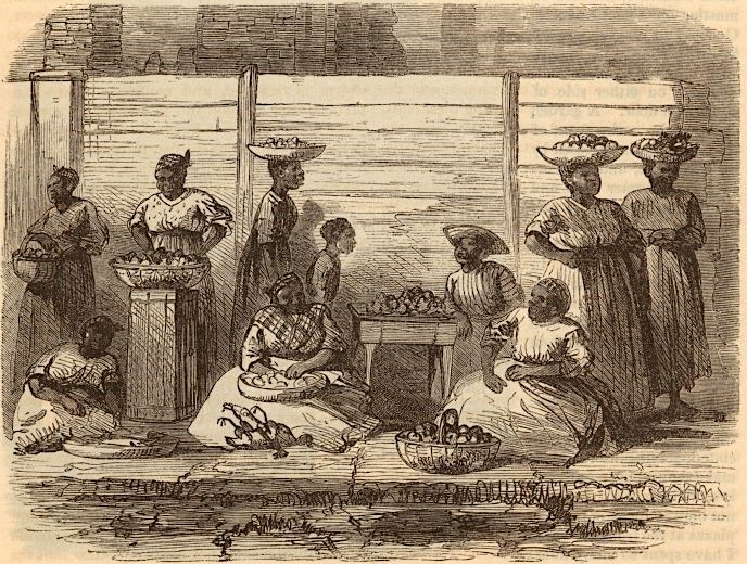 African American women at market, 1865, Charleston, South Carolina, courtesy of New York Public Library.