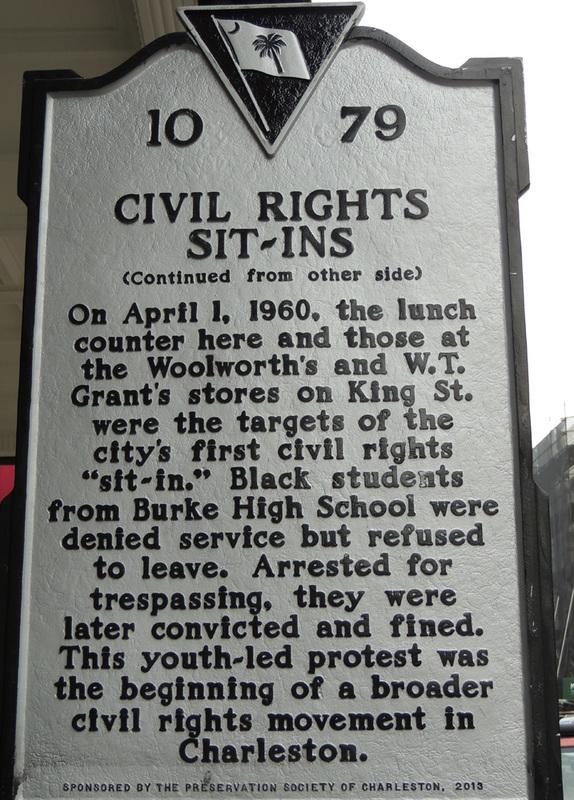 S.H. Kress Historical Marker, image by Harry Egner Jr., Charleston, South Carolina, April 2015.