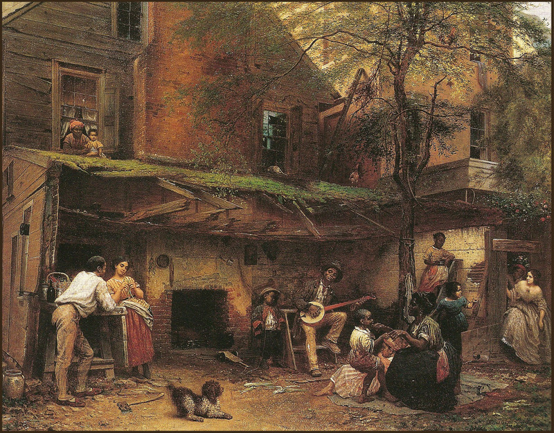 """""""Old Kentucky Home: Negro Life at the South,""""  Eastman Johnson, 1859, courtesy of the New-York Historical Society."""