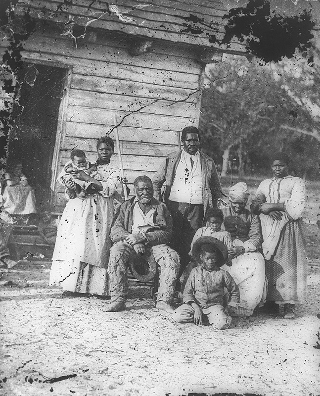 Five generations on Smith's Plantation, Beaufort, South Carolina, photograph by Timothy O'Sullivan, Beaufort, South Carolina, 1862, courtesy of the Library of Congress.