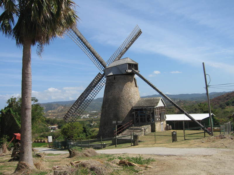 Morgan Lewis Windmill, Barbados, West Indies, image by Mary Battle, March 2012. In addition to opening access to the trans-Atlantic slave trade, Dutch traders in Barbados also introduced windmill technology for processing sugarcane. Many of these structures remain on the island today.