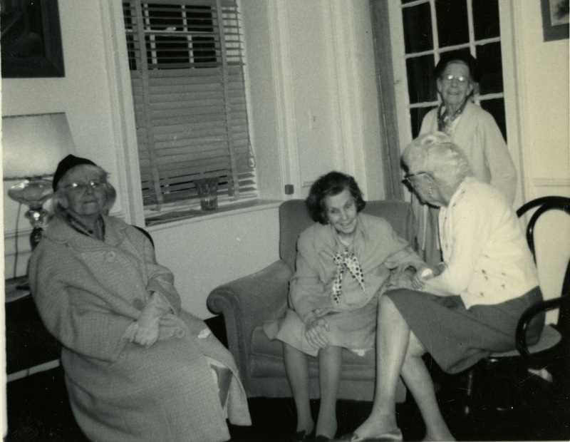 Carrie, Mabel, and Anita Pollitzer in Anita's apartment, New York City, New York, Anita Pollitzer Family Papers, South Carolina Historical Society.
