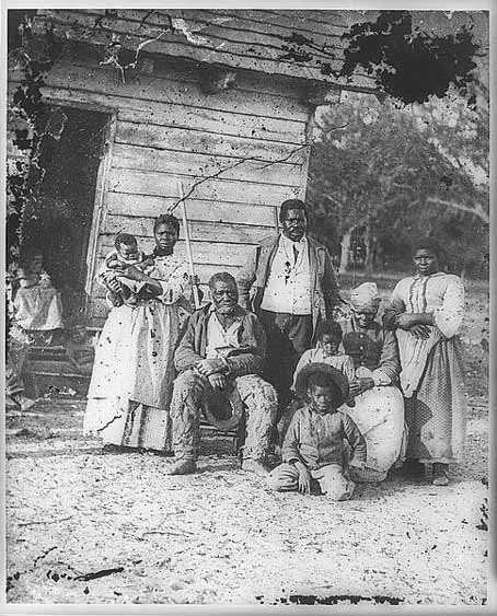 Family of African Americans on Smith's Plantation, Beaufort, South Carolina, ca. 1862, courtesy of the Library of Congress.