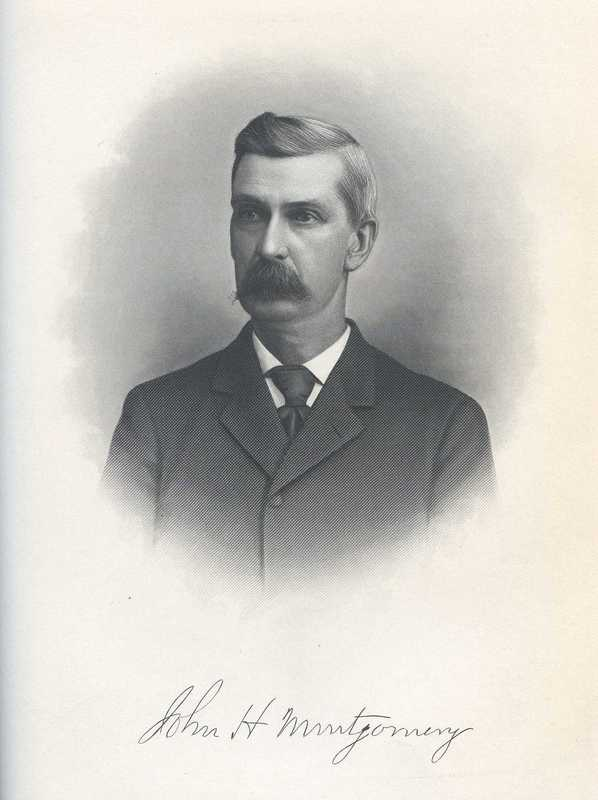 Sketch of John Henry Montgomery, ca. 1900, published in<em> Lamb's Textile Industries of the United States: Embracing Biographical Sketches of Prominent Men and A Historical Resume of the Progress of Textile Manufacture From the Earliest Records to the Present Time</em>, courtesy of HathiTrust.