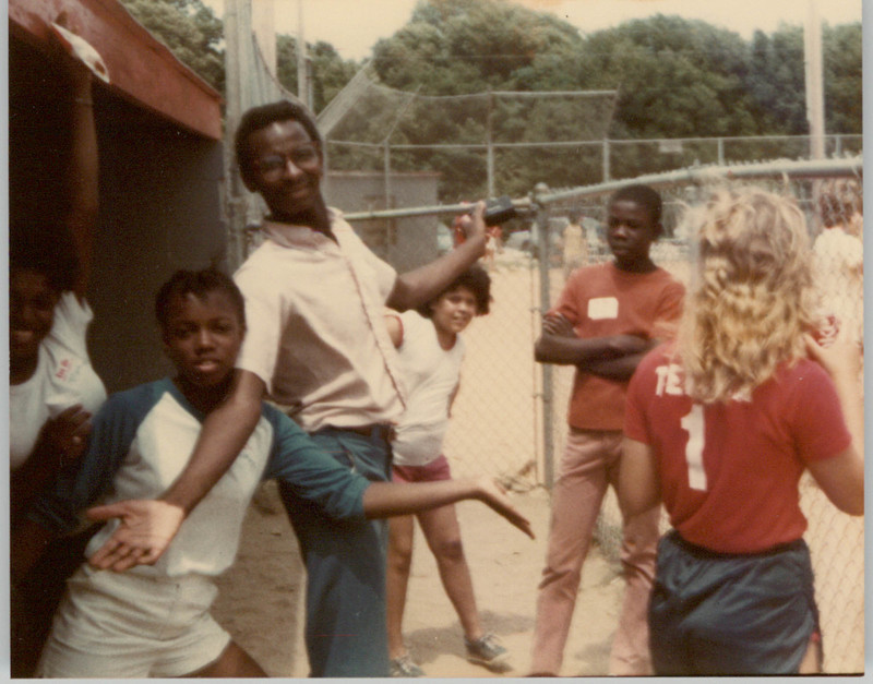 People playing baseball after public parks were integrated in Charleston, circa 1980, courtesy of Avery Research Center for African American History and Culture.