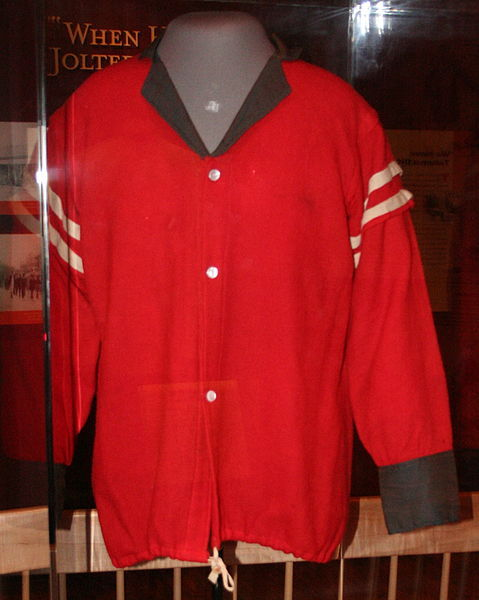 """Red Shirt"" worn by militants in political rallies and in African American neighborhoods to intimidate voters during and after Reconstruction, 2011, courtesy of the North Carolina Museum of History."