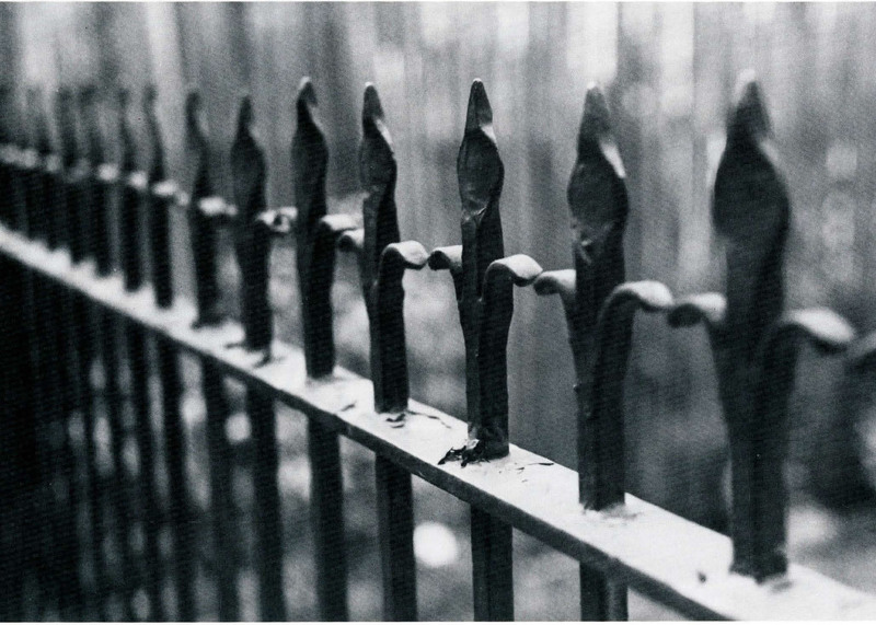 """""""Resonance,"""" detail of 55-A King Street, Charleston, South Carolina, 1993, photograph by Claire Y. Greene,<em>Keeper of the Gate</em><em>: Designs in Wrought Iron by Philip Simmons, Master Blacksmith</em>, courtesy of the Philip Simmons Foundation."""