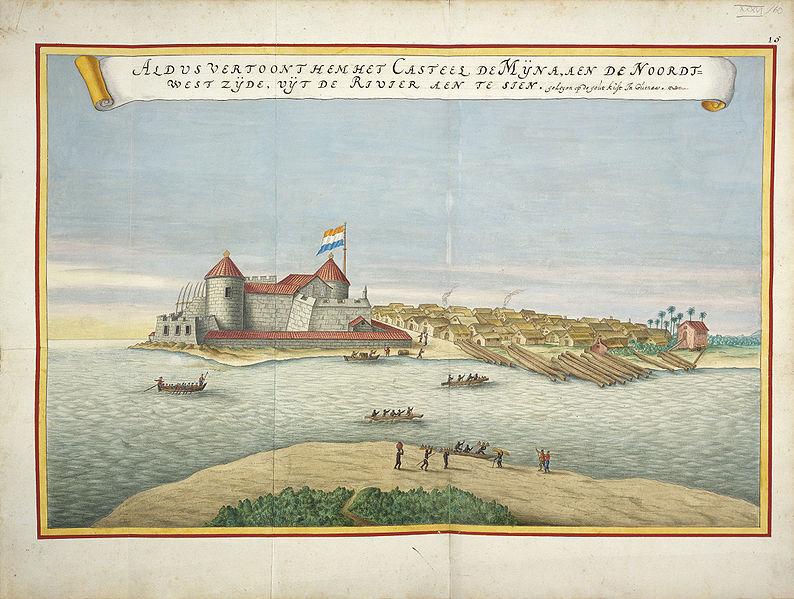Elimina Castle, or St. George Castle, Gold Coast (present day Ghana), <em>Atlas Blaeu van der Hem</em>, 1665-1668.