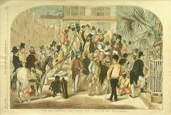 <em>A Slave Sale in Charleston, South Carolina</em>, Eyre, 1854.