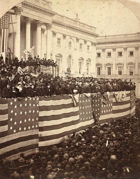 Inauguration of Rutherford B. Hayes at the U.S. Capitol, stereograph by Brady's National Portrait Gallery, 1877, courtesy of Library of Congress.