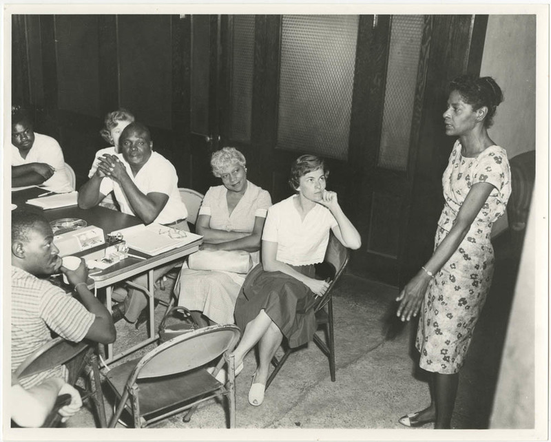 Bernice Robinson teaching, Bernice Robinson Papers, courtesy of the Avery Research Center.