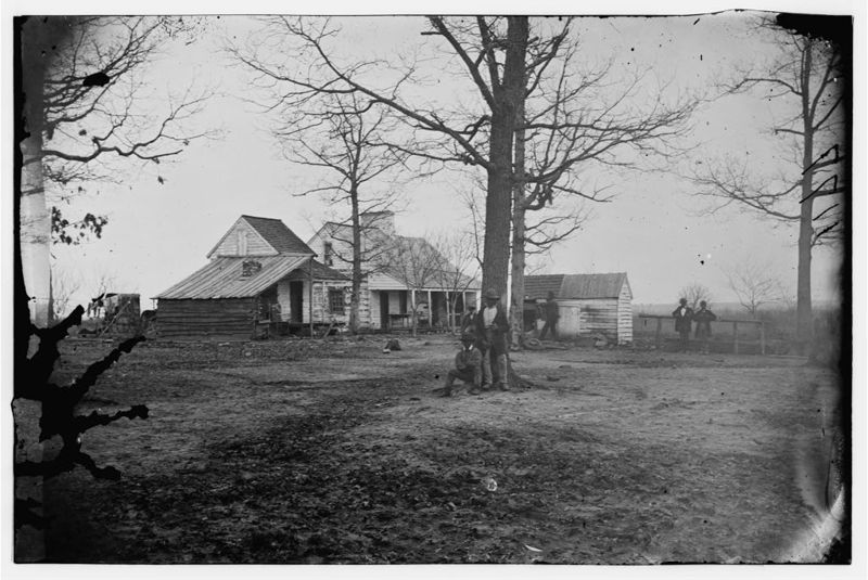View of farm house, Port Royal, South Carolina, 1862, courtesy of Library of Congress Prints and Photographs Division.