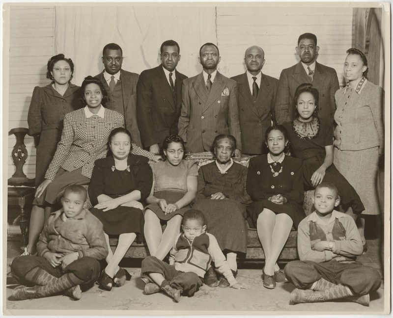 Clark family reunion in North Carolina, Septima P. Clark Papers, courtesy of the Avery Research Center.