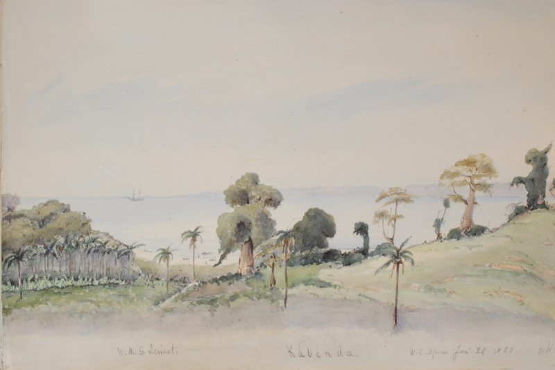"""Kabenda,"" painting by Francis Meynell, painting by Francis Meynell, 1855, courtesy of the National Maritime Museum, London, United Kingdom."