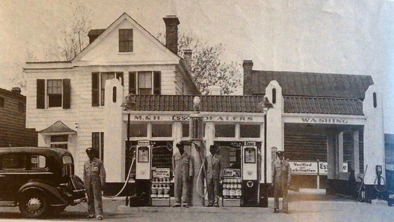 Photograph of Robert F. Morrison's Esso Station at 179 Coming Street, circa 1938.