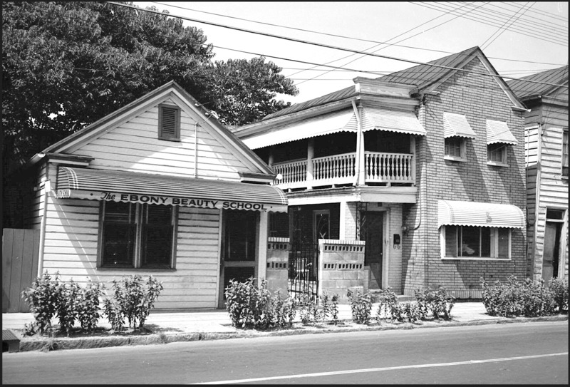 Photograph of the Ebony Beauty School, 87 Coming Street, photograph by Walter Boags, circa 1970, courtesy of the Avery Research Center for African American History and Culture.