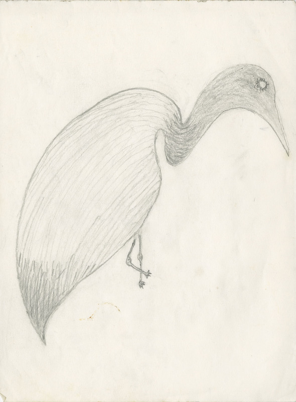 Sketch of egret by Philip Simmons, Philip Simmons Collection, courtesy of the Avery Research Center.