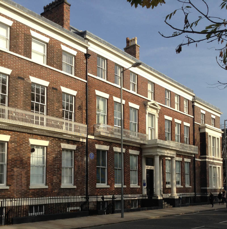 19 Abercromby Square, photograph by Chris Williams, Liverpool, England, 2015.