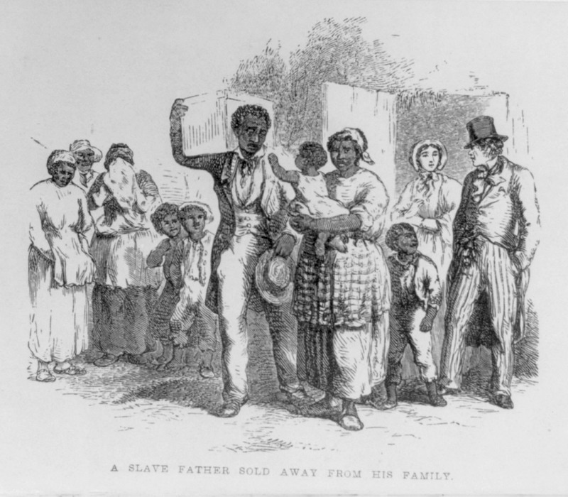 """A Slave Father Sold Away from His Family,"" from The Child's Anti-Slavery Book, 1861, courtesy of the Library of Congress."