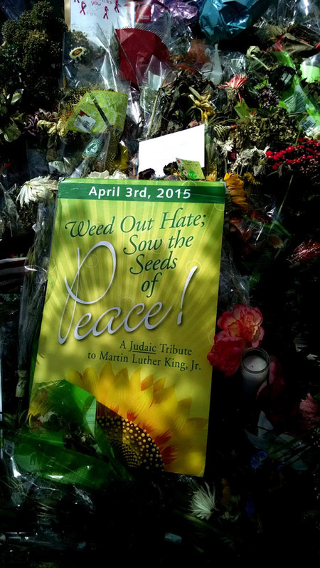 Poster left outside the Emanuel AME Church, photograph by Toni Carrier, June 23, 2015, Charleston, South Carolina.