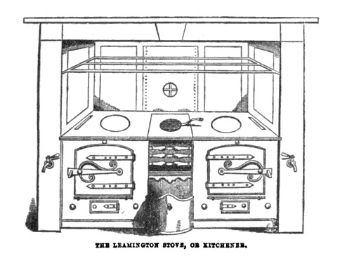 """<span>""""The Leamington Stove, or Kitchener,"""" drawing from</span><em>Beeton's Book of Household Management</em><span>, edited byIsabella Beeton, 1861,</span><span>courtesy of the</span>Wellcome Library<span>.</span>"""