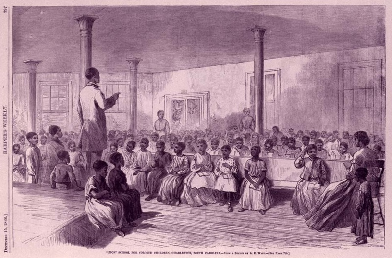 """Zion School for Colored Children, Charleston, South Carolina,"" <em>Harper's Weekly</em>, December 1866, courtesy of the Avery Research Center."