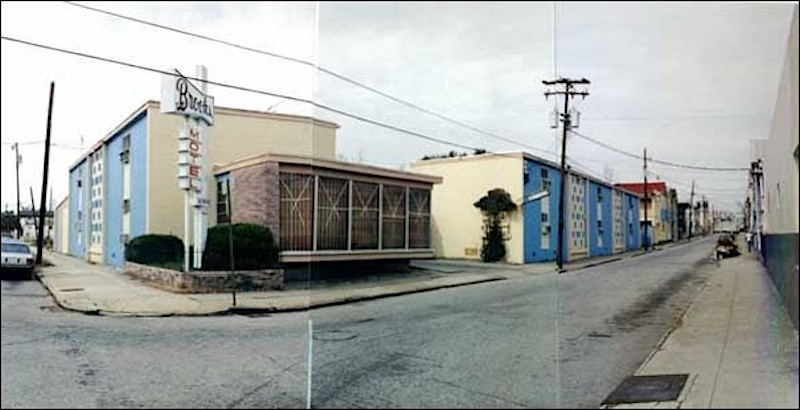 The Brooks Motel, constructed circa 1963, 60 Morris Street, photograph by Steve Rhea, 1990.