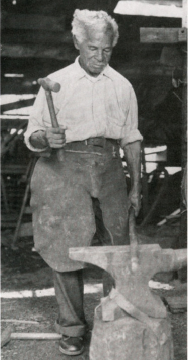 Peter Simmons, Charleston, South Carolina, ca. 1920, printed in John Michael Vlach,&nbsp;<em>Charleston Blacksmith: The Work of Philip Simmons</em>, revised edition (1992), courtesy of Philip Simmons Foundation.