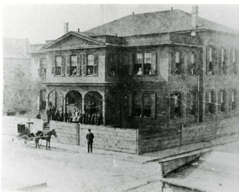 Charleston Colored Industrial School building, Charleston, South Carolina, ca. 1901, from the Prospectus of the Charleston Industrial School, courtesy of the Avery Research Center.