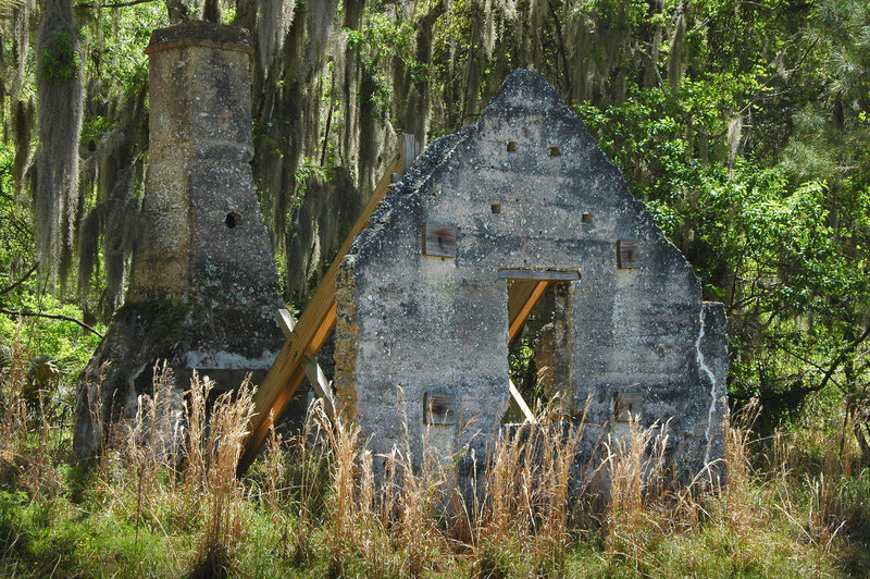 Slave Cabin Ruins on Chocolate Plantation, photographs by Brian Brown, Sapelo Georgia, 2013, Courtesy of Vanishing Coastal Georgia.