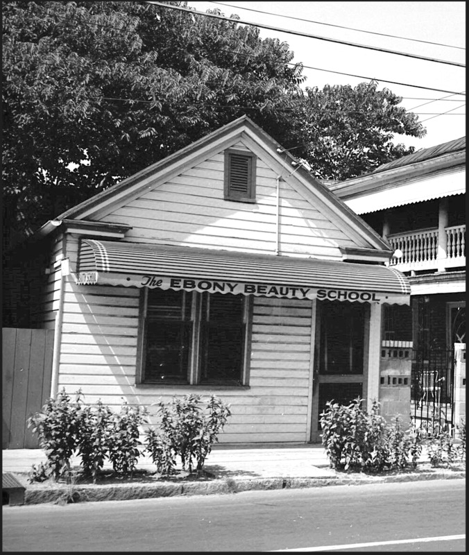 Ebony Beauty School, photograph by Walter Boags, 87 Coming Street, 1958, courtesy of the Avery Research Center for African American History and Culture.