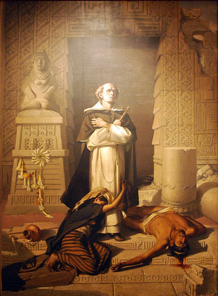 Fray Bartolomé de las Casas, painting by Felix Parra, 1875, courtesy of the Museo Nacional de Arte in Mexico City.