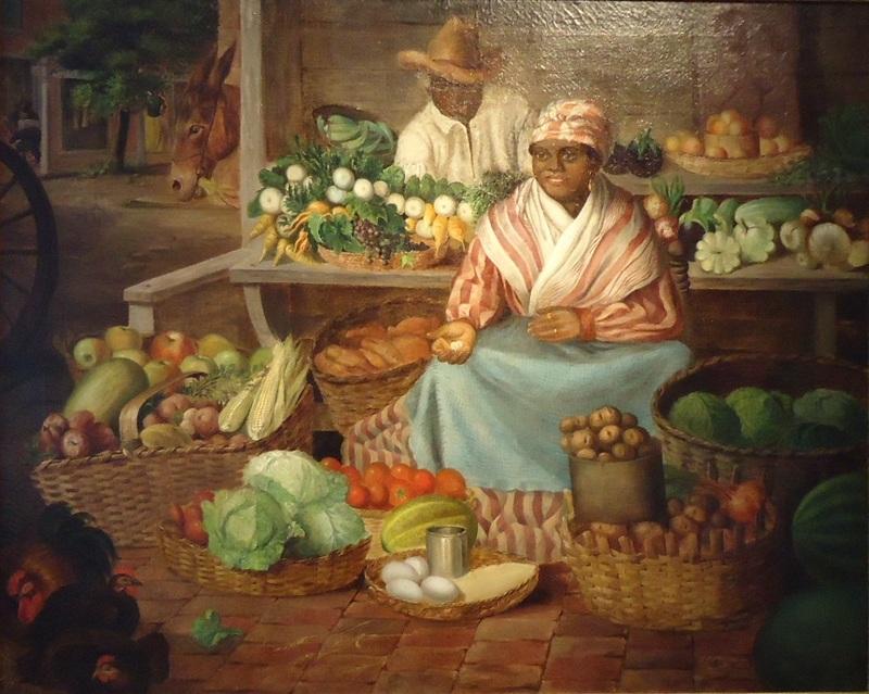 """Market Scene, Savannah,"" <span>painting</span>by Hal Morrison (1848-1912), Savannah, Georgia, courtesy of the Charleston Renaissance Gallery."