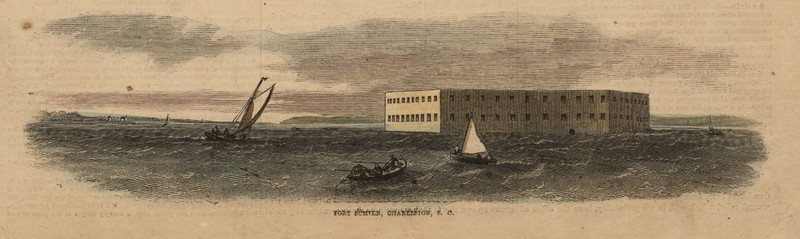 Fort Sumter, Charleston, South Carolina, from <em>Frank Leslie's Illustrated Newspaper</em>, December 1, 1860, The Charleston Museum Illustrated Newspapers Collection, courtesy of the Charleston Museum.