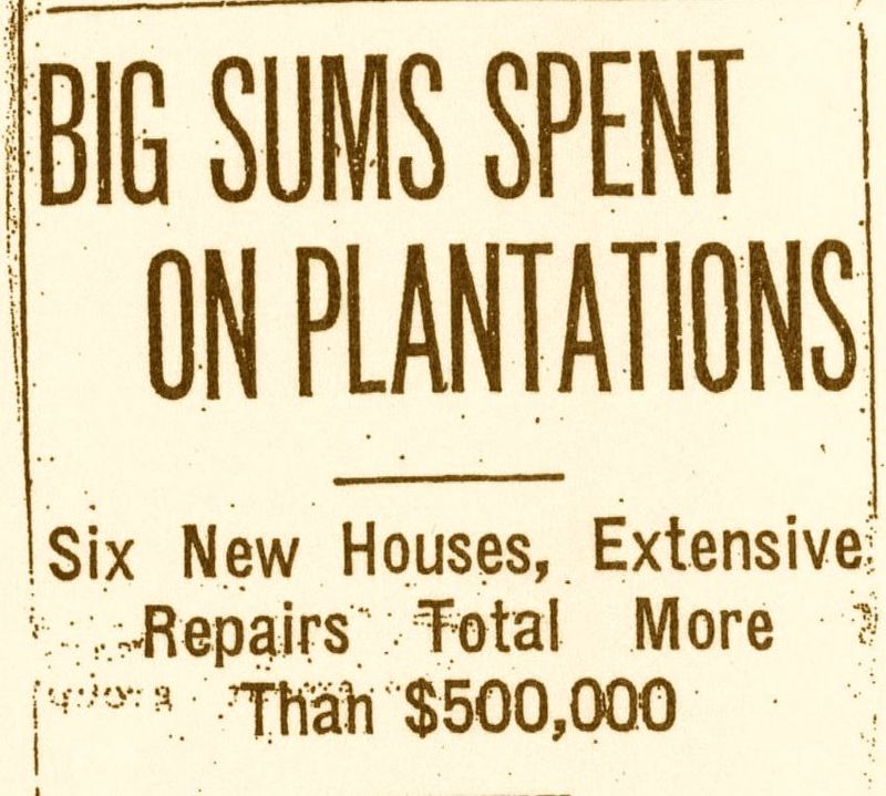 """Big Sums Spent on Plantations,"" News and Courier, Charleston, South Carolina, 1936, courtesy of College of Charleston Libraries."