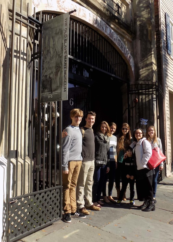 Clemson University students at the Old Slave Mart in Charleston researching Samuel Williams, photograph from Susanna Ashton, Charleston, South Carolina, 2015.