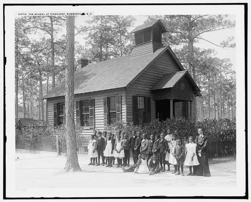 African American school children and their teacher, photograph, by Detroit Publishing Co., circa 1900, Summerville, South Carolina, courtesy of Library of Congress.