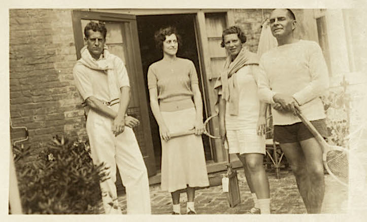 Tennis players at Medway Plantation, 1933, courtesy of College of Charleston Libraries.