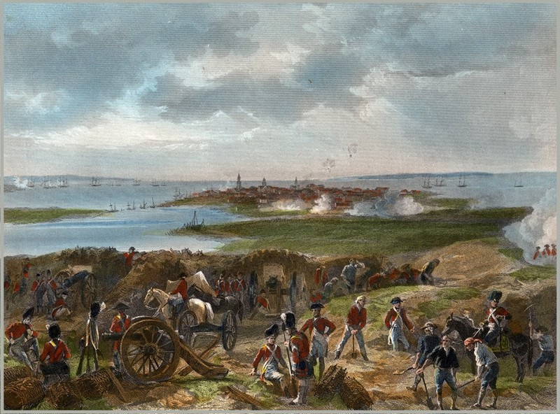 A Depiction of the Seige of Charleston of 1780, Alonzo Chappel, 1862, courtesy of Wikimedia Commons.