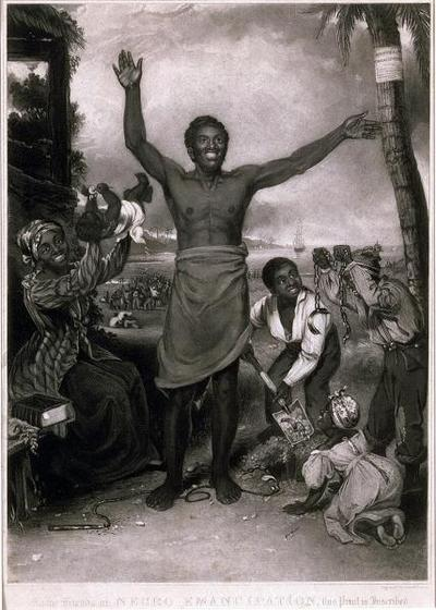 """To the Friends of Negro Emancipation"", engraving, 1833 courtesy of the © National Maritime Museum, Greenwich, UK."
