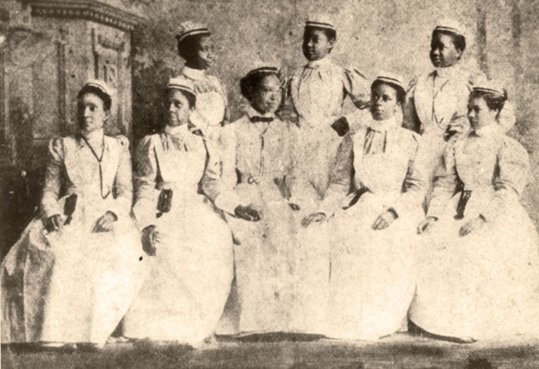 First graduating class of the Cannon Street Hospital and Training School for Nurses, 1897, courtesy of Waring Historical Library, MUSC, Charleston, S.C.