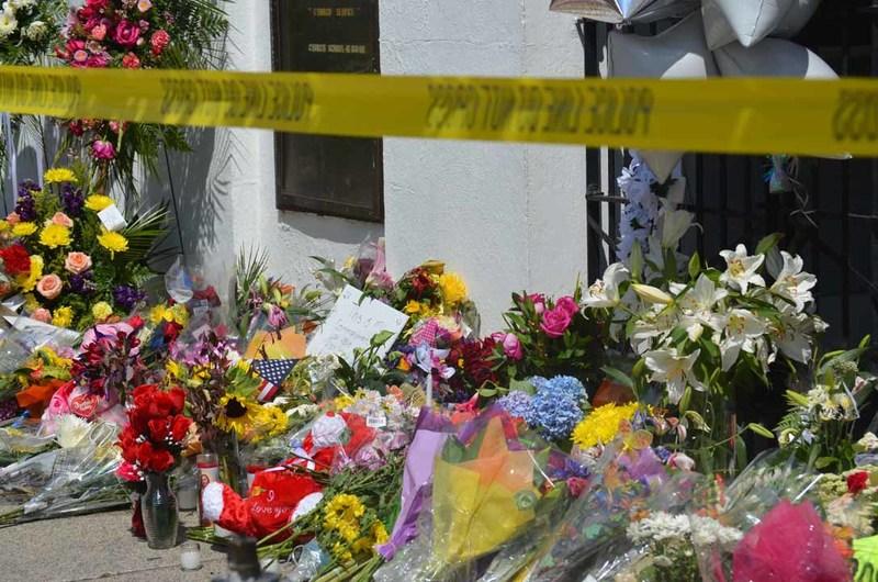 Police tape outside of the Emanuel AME Church, June 25, 2015, Charleston, South Carolina, courtesy of ABC New4 WCIV-TV.
