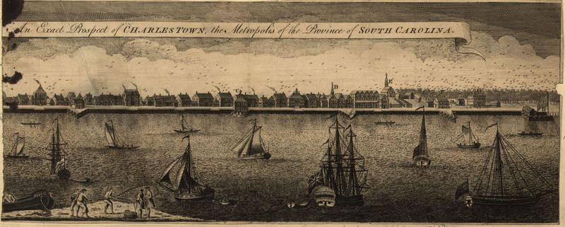 """An exact prospect of Charlestown: the metropolis of the province of South Carolina,"" 1762, <em>London Magazine</em>, courtesy of Library of Congress Geography and Map Division."