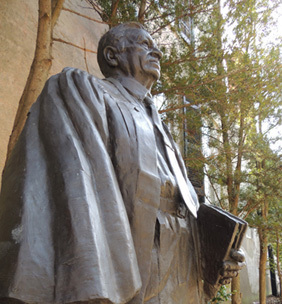 Judge J. Waties Waring Statue on the grounds of the United States District Court House of South Carolina, image by Harry Egner Jr., Charleston, South Carolina, April 2015.