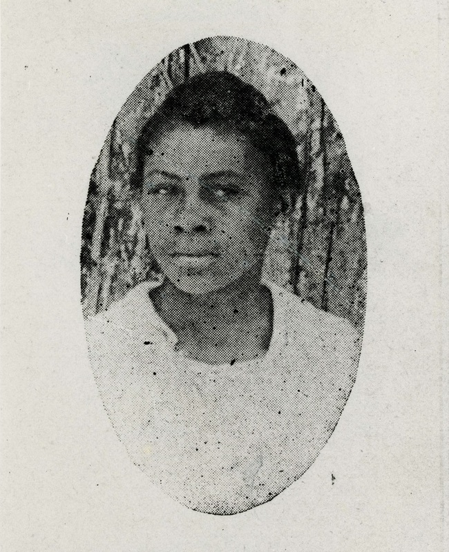 Septima Poinsette (later Clark) as assistant editor of the Avery yearbook, Charleston, South Carolina, ca. 1915, courtesy of the Avery Research Center.  Septima Poinsette began school in Charleston's Black public school system before entering Avery in the ninth grade with the goal of becoming a teacher. After she graduated in 1916, she taught for over three decades, and went on to become a nationally influential civil rights leader.
