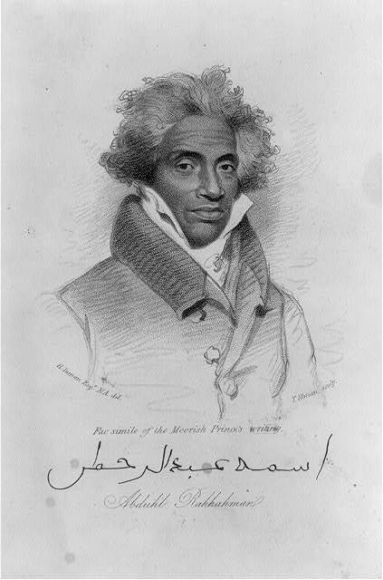 <em>Abduhl Rahhahman</em>, engraved by Thomas Illman, 1833-1834, courtesy of the Library of Congress.